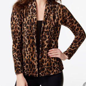 Charter Club luxury Cashmere leopard cardigan XL